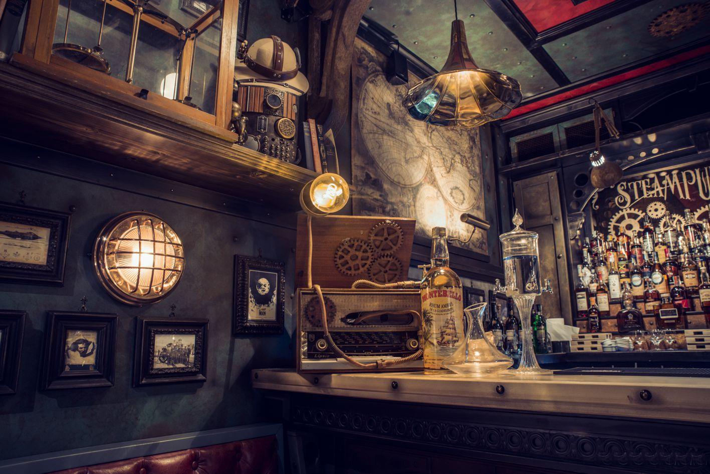 Steampunk archivi arredamento per pub realizzazione di for Arredamento pub inglese